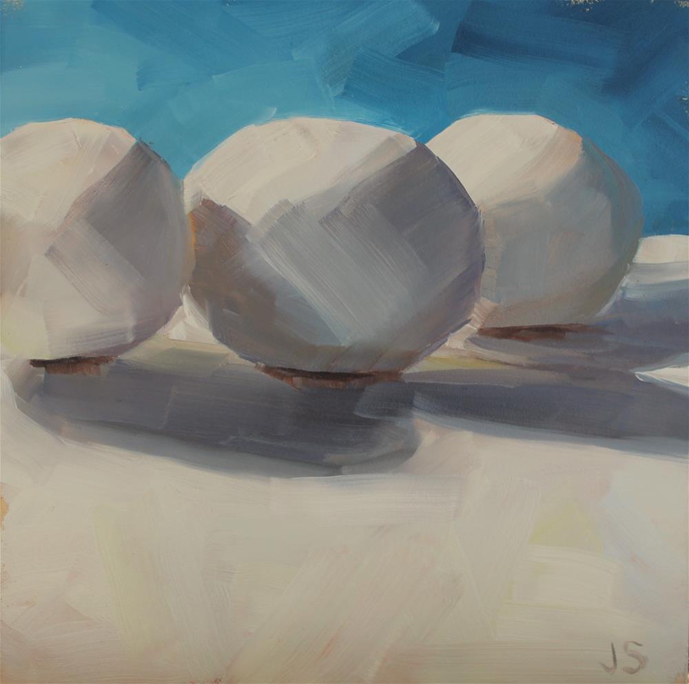 """Egg Drama"" original fine art by Jamie Stevens"