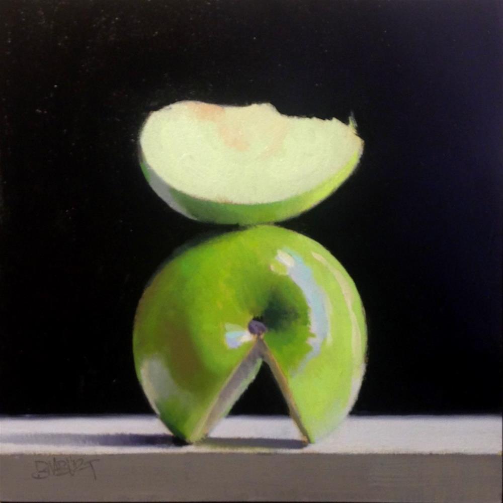"""#369 Granny Smith Slice #3"" original fine art by Brian Burt"
