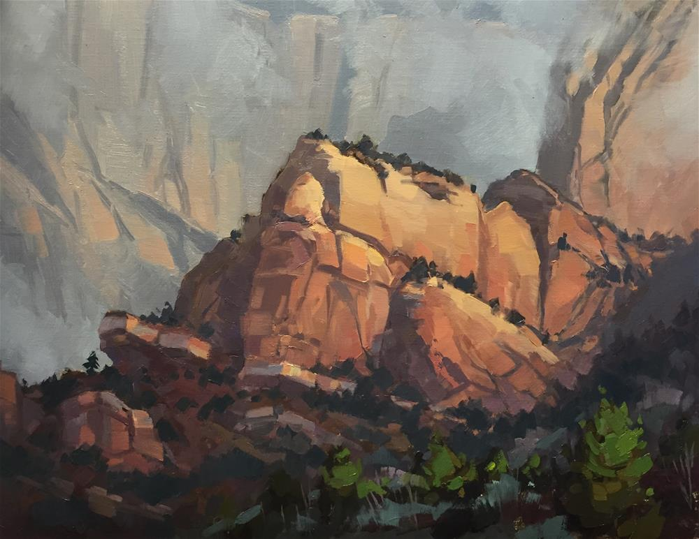 """Kolob Canyon Storm Colors"" original fine art by Mary Jabens"