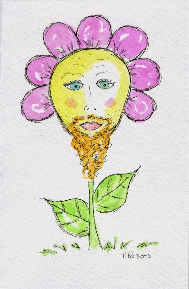 """No Shave November 2 - American Cancer Society Fundraiser"" original fine art by Kali Parsons"