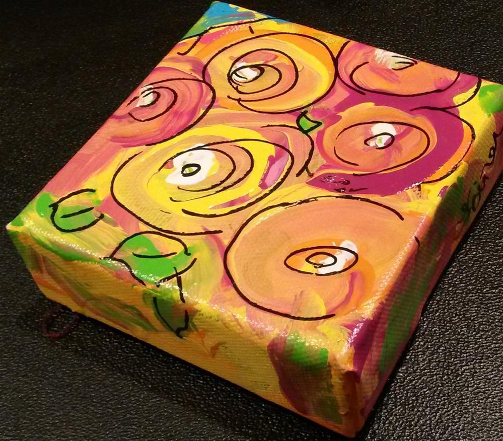 """Chunky Flowers"" original fine art by Terri Einer"