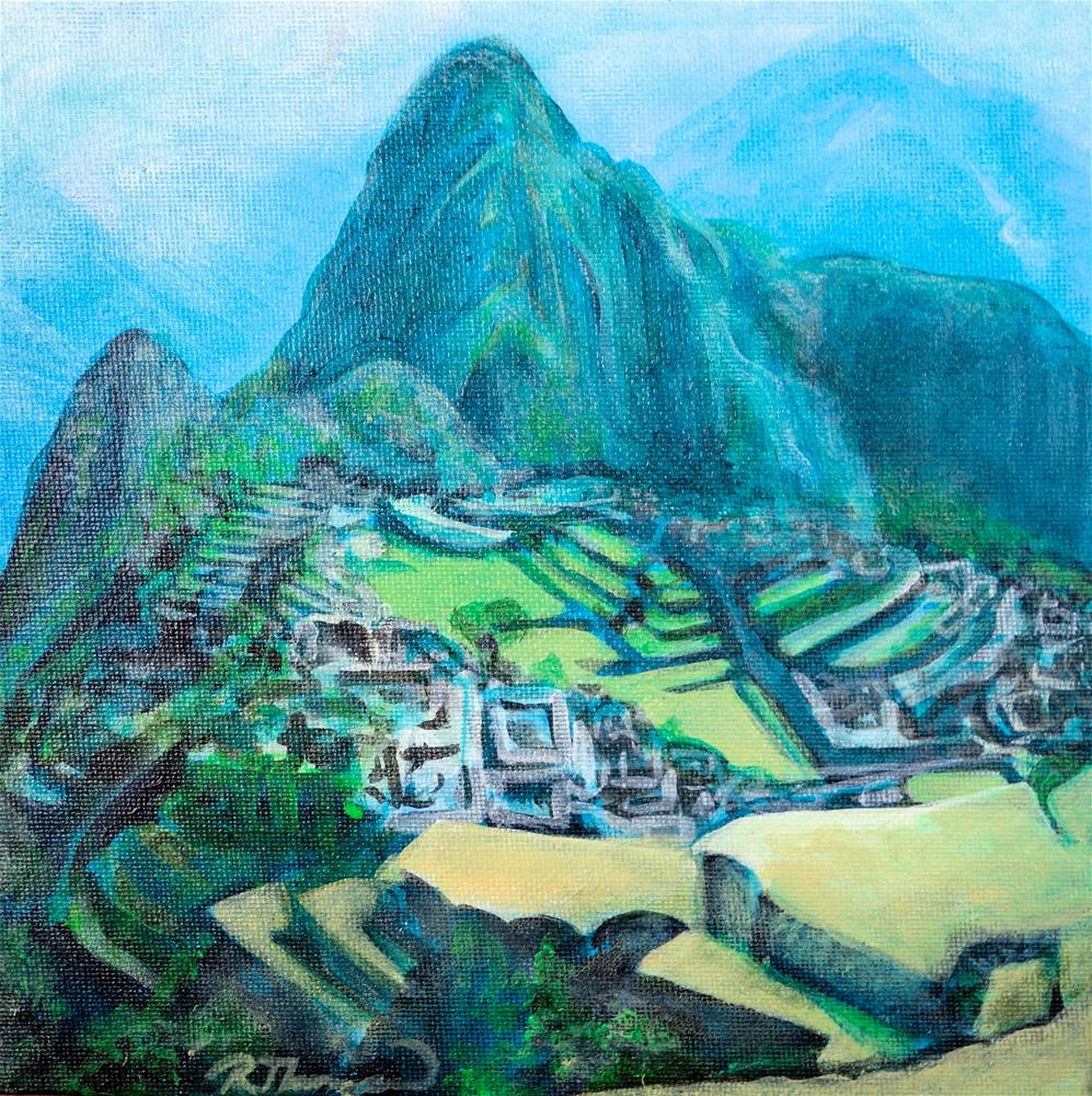 """Machu Picchu"" original fine art by Rachel Thompson"