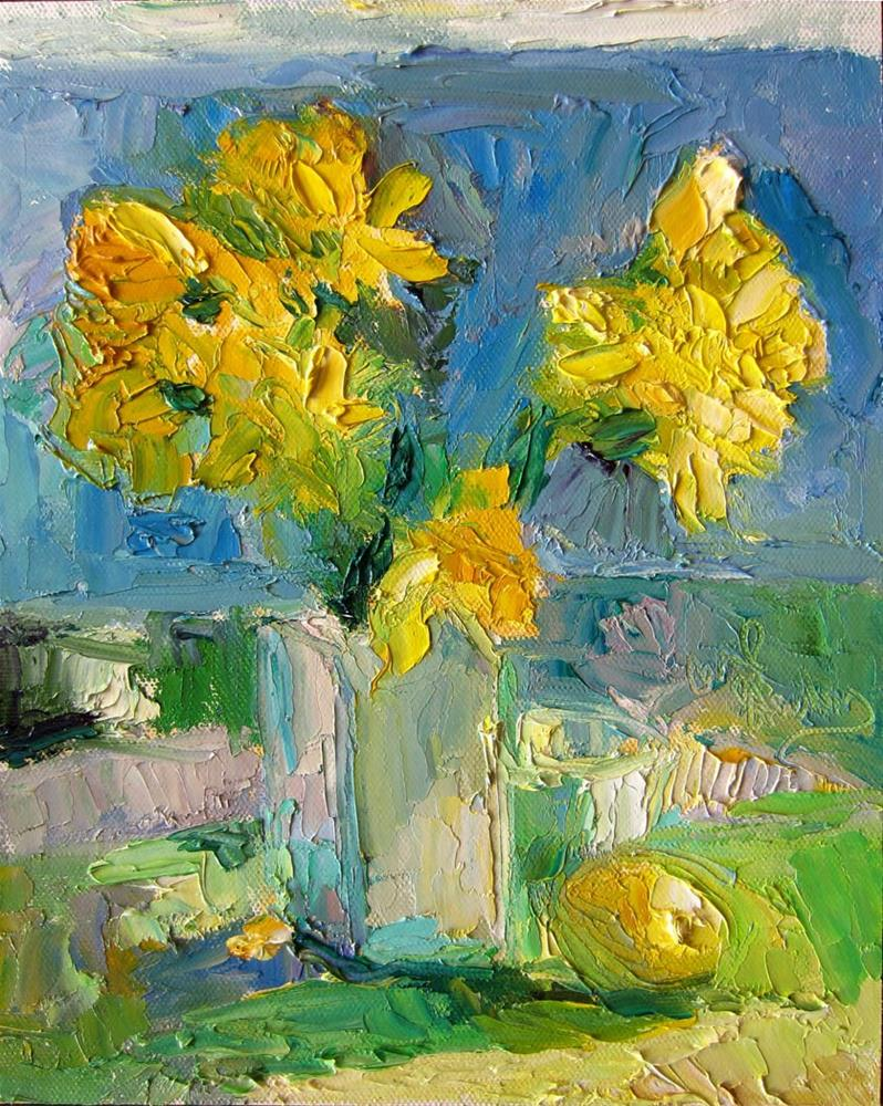 """Daffodils in the Sun 2"" original fine art by Carol Steinberg"