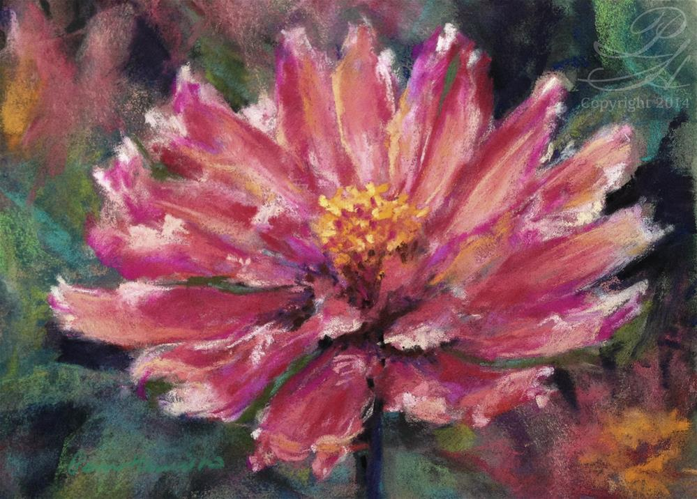 """Zinnia"" original fine art by Pamela Hamilton"