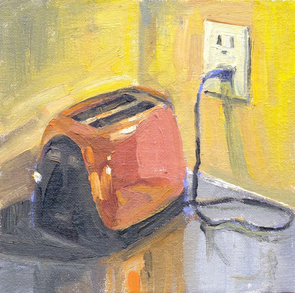 """Toaster"" original fine art by Kath Reilly"