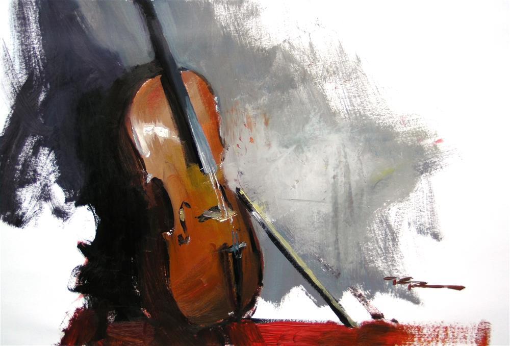 """""""Cello"""" original fine art by Richard Robinson"""