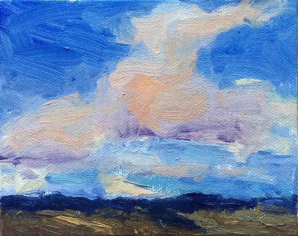 """Ten Tiny Cloudscapes #7"" original fine art by Victoria  Biedron"