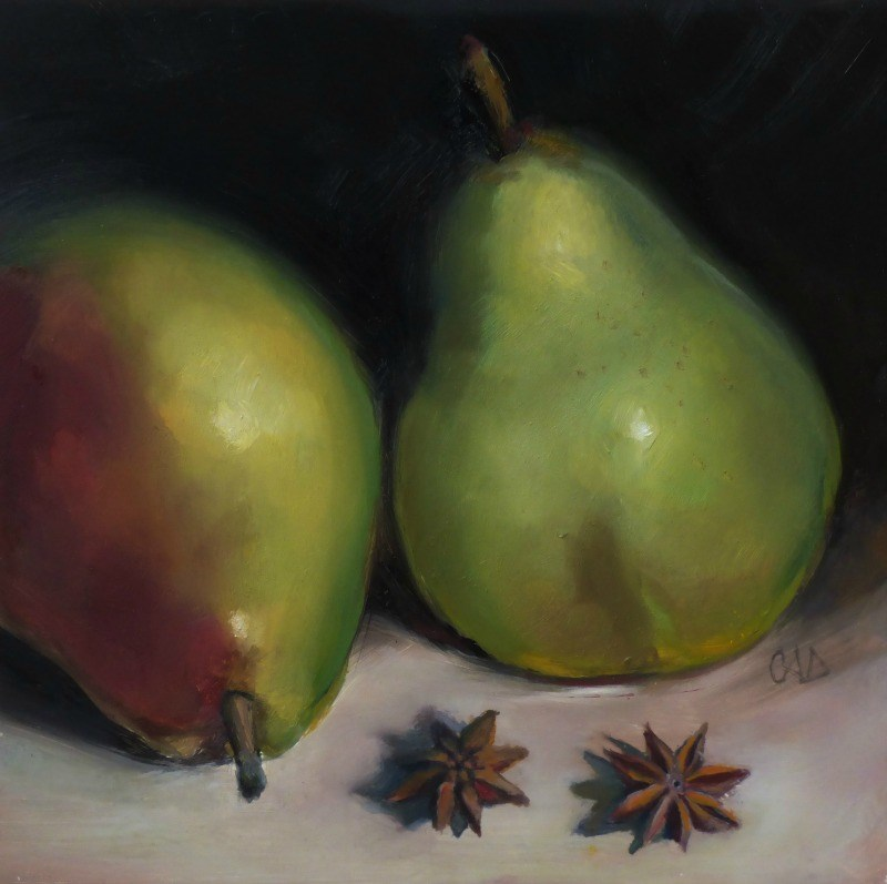 """Pear'nts"" original fine art by Christine Angelotta Dixon"