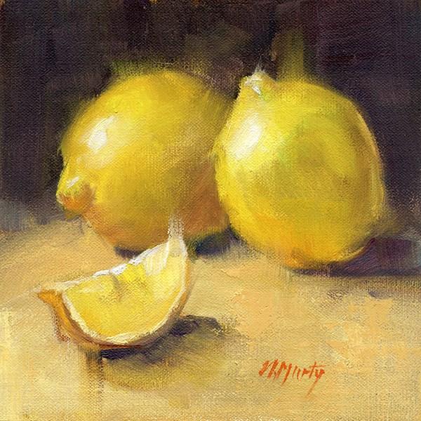 """Lemons • 2 (DP001)"" original fine art by Nancy Murty"
