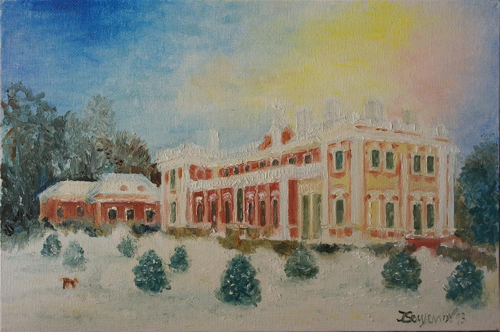 """winter, Kadriorg"" original fine art by Juri Semjonov"