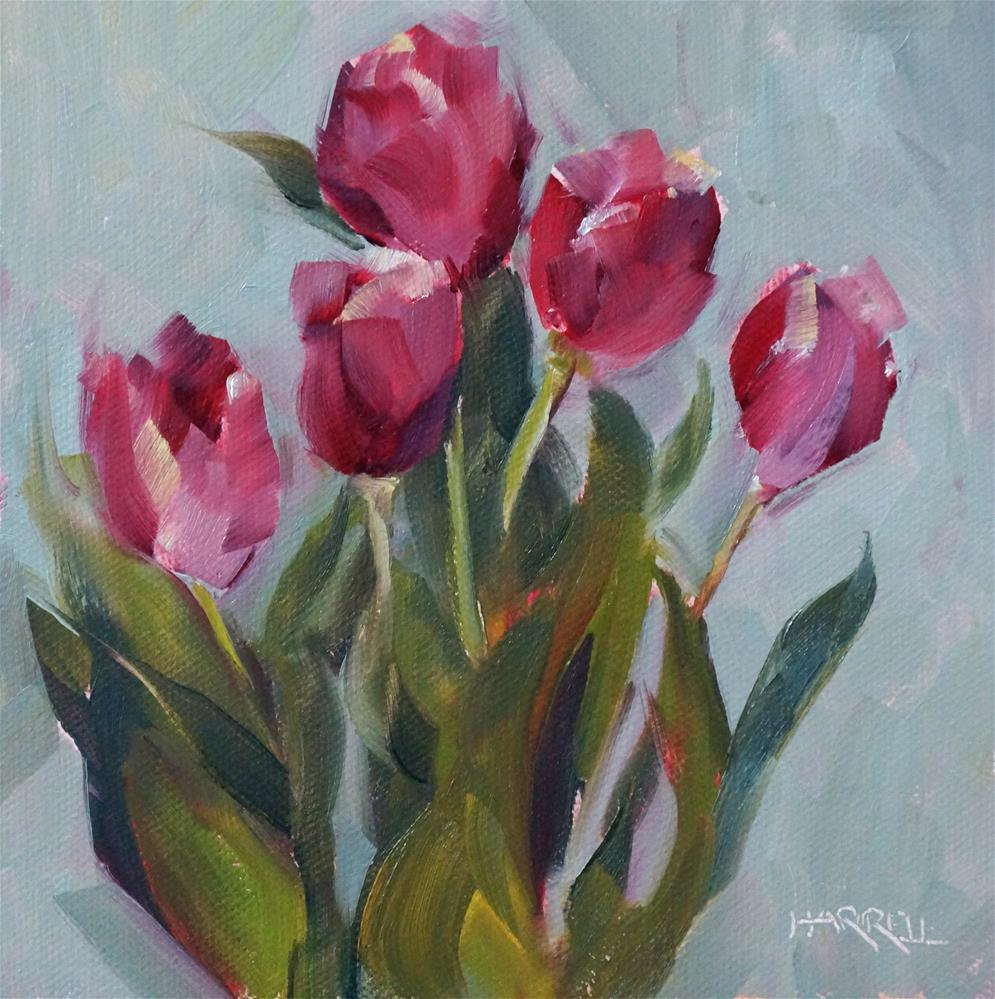 """Tulips"" original fine art by Sue Harrell"