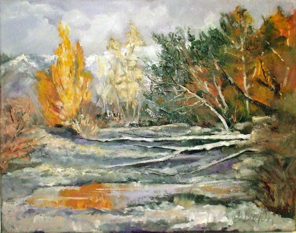 """Dry Streambed Late October"" original fine art by Cheryl Williams Dolan"