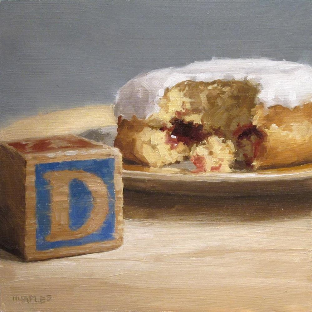 """D is for Donut"" original fine art by Michael Naples"