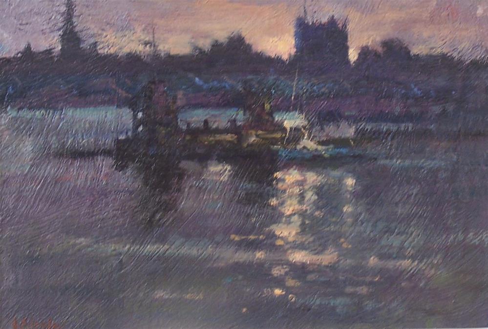 """Last light Rochester"" original fine art by John Shave"