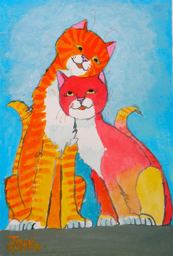 """You're Cute"" original fine art by Toni Goffe"
