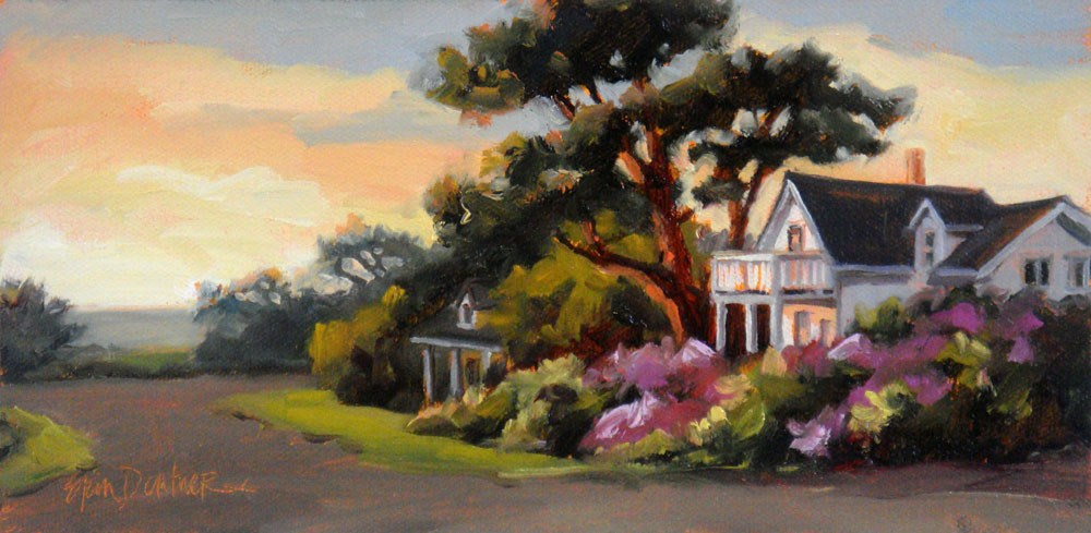"""Coral Glow on Mendocino"" original fine art by Erin Dertner"