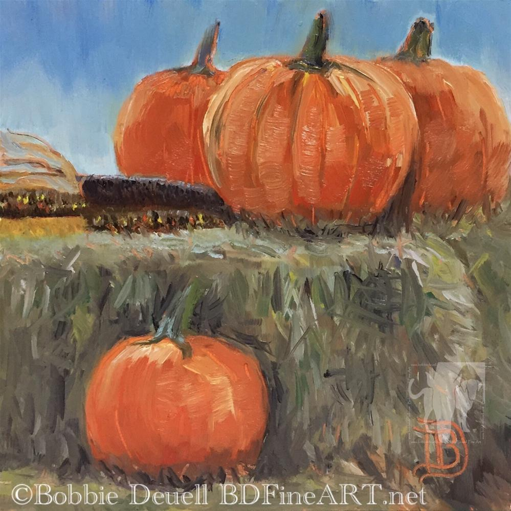 """#51  PumpkinTime"" original fine art by Bobbie Deuell"
