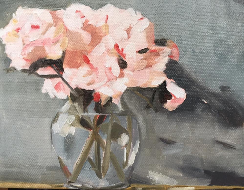 """283 Unencumbered Peonies"" original fine art by Jenny Doh"