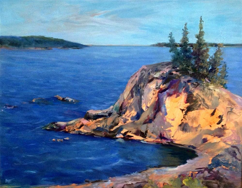 """Campobello, The Rock"" original fine art by Cathy Boyd"