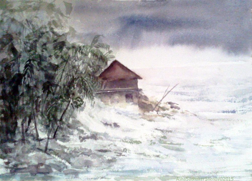 """The Storm"" original fine art by Asha Shenoy S"