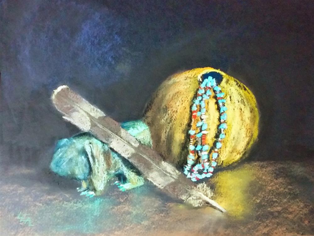 """Totem Treasures"" original fine art by Anna Lisa Leal"