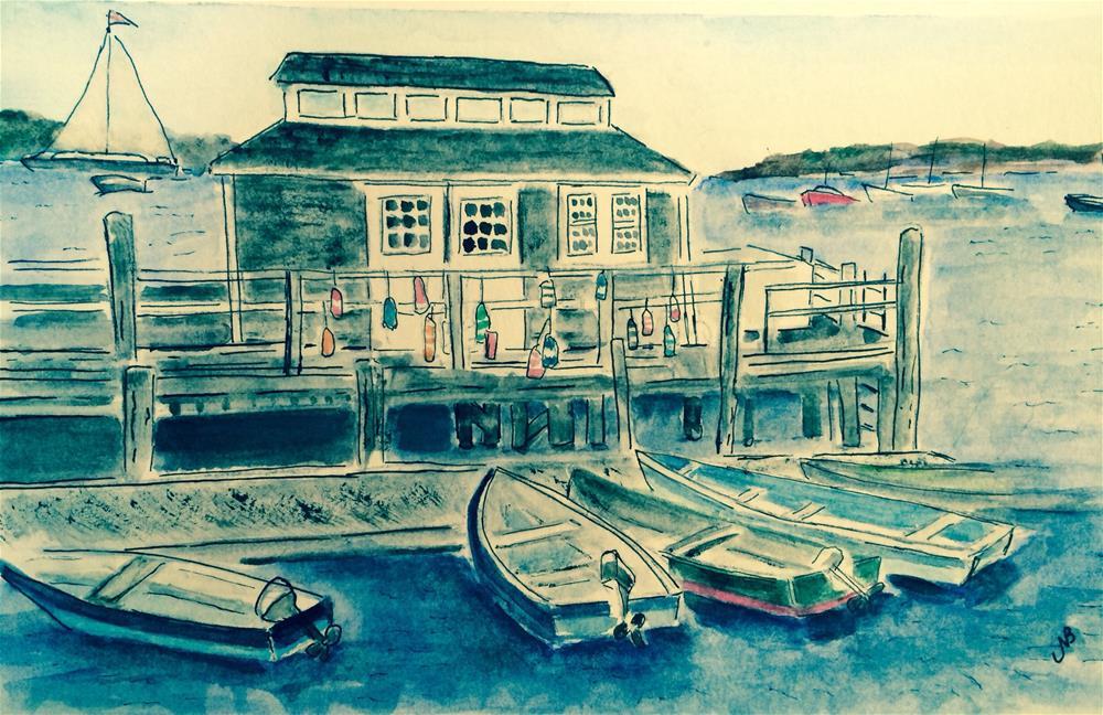 """Fish Shack SOLD"" original fine art by Nancy Beard"