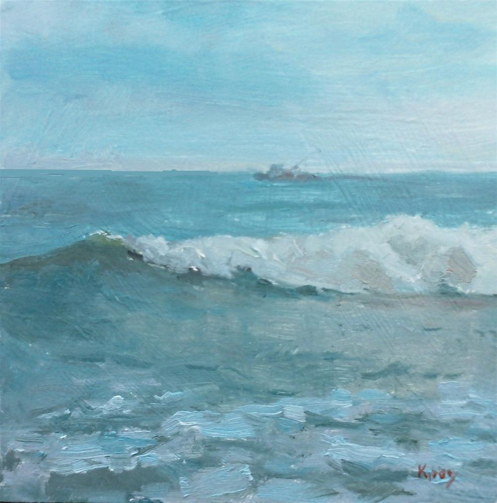"""Evening Surf"" original fine art by Randall Cogburn"