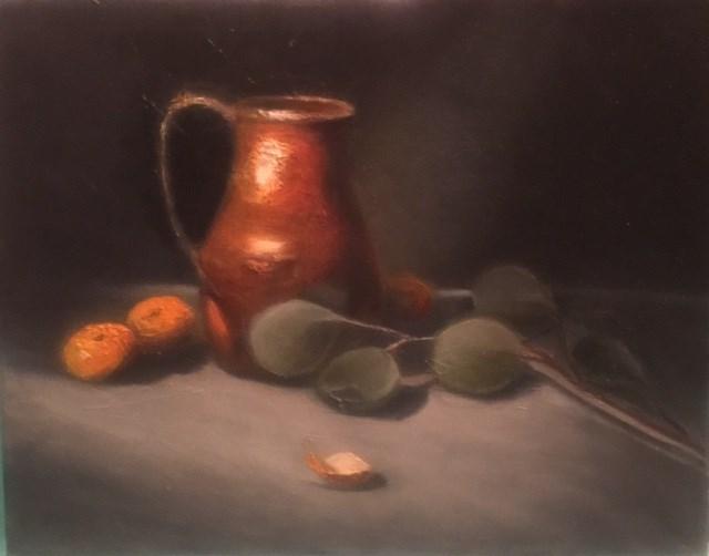 """Antique Brass Pitcher"" original fine art by Cheryl J Smith"