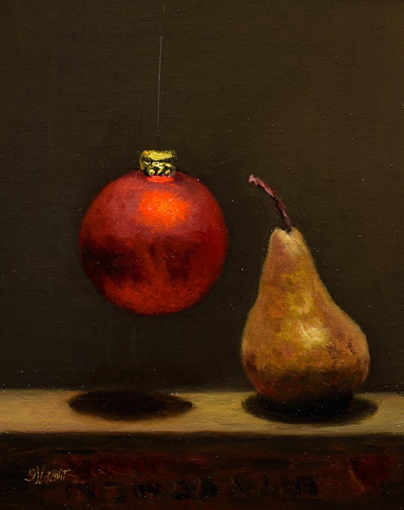 """Pear & Ornament"" original fine art by Garry Kravit"
