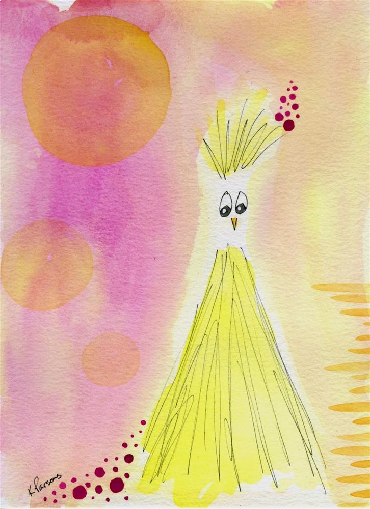 """So, Why did the Chicken Cross the Road?"" original fine art by Kali Parsons"