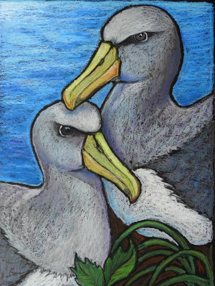 """Chatham Albatross Pair"" original fine art by Ande Hall"