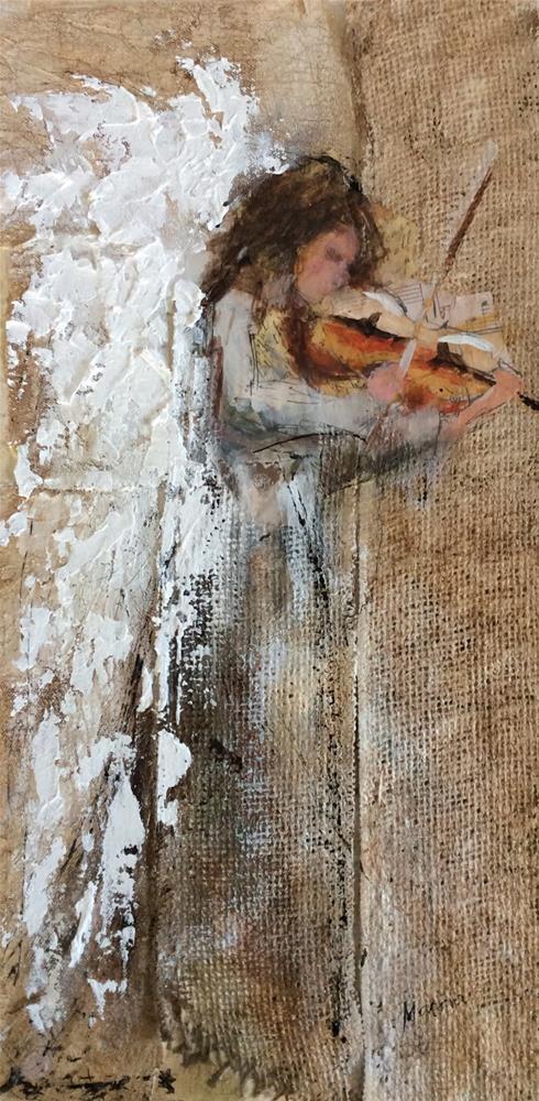 """Angel Music"" original fine art by Marcia Hodges"