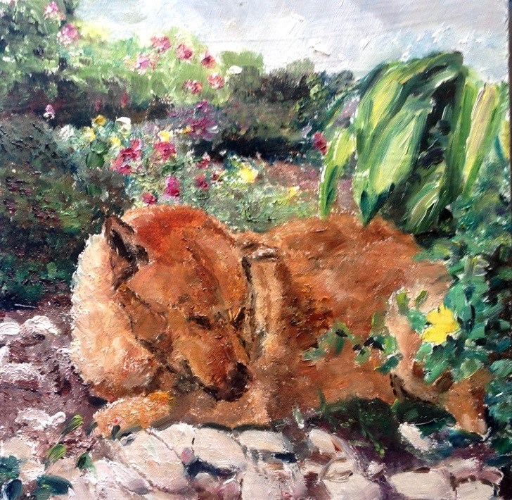 """Rusty"" original fine art by Judy Usavage"