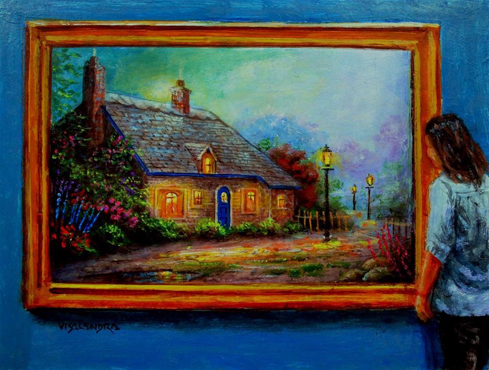 """museum visitor20"" original fine art by vishalandra dakur"