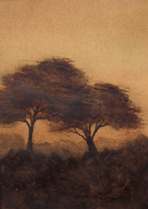 """African Sunset"" original fine art by Jean Lurssen"