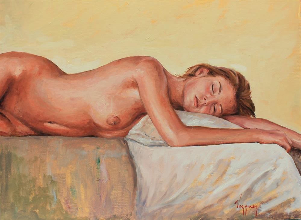 """Nude"" original fine art by Marco Vazquez"