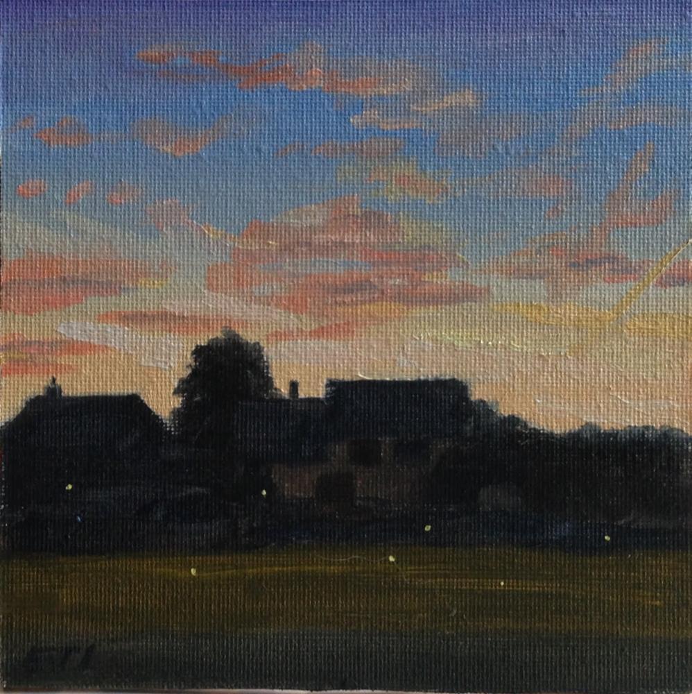 """Firefly Sunset"" original fine art by Eric Larson"