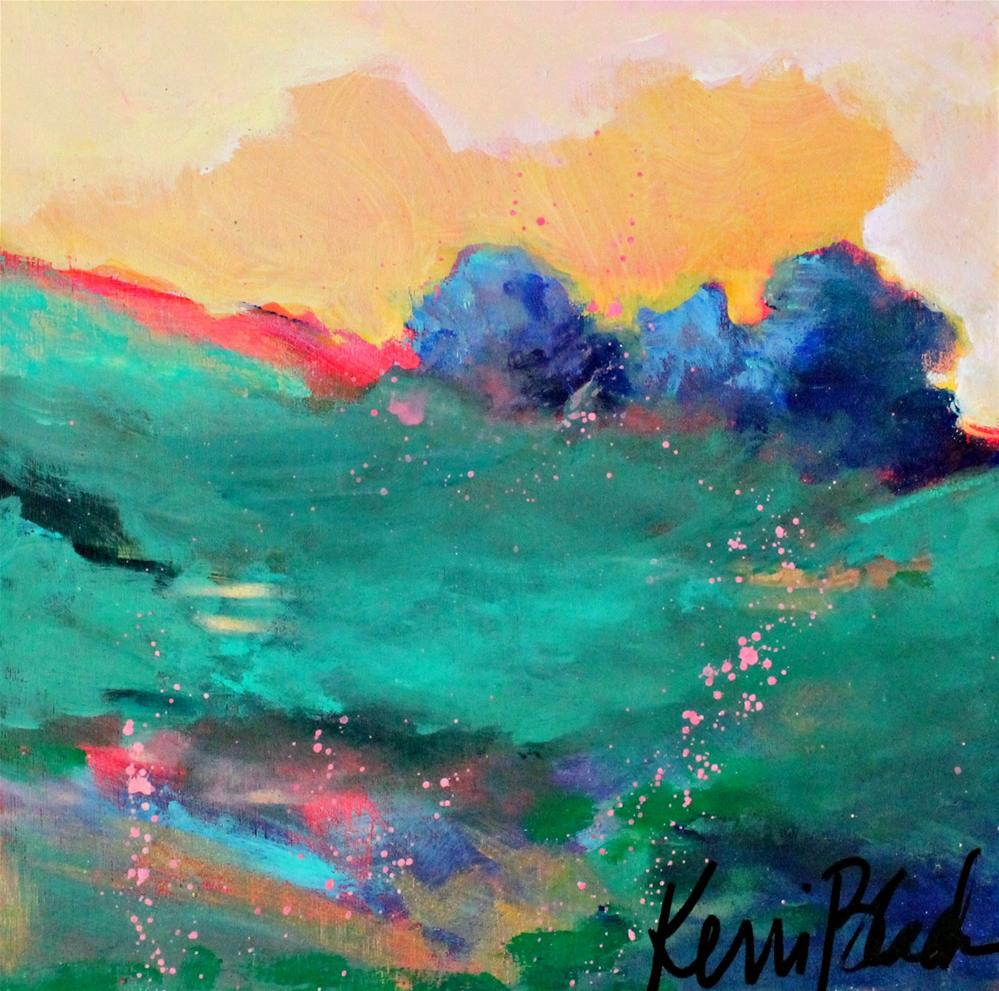 """The Back Field "" original fine art by Kerri Blackman"