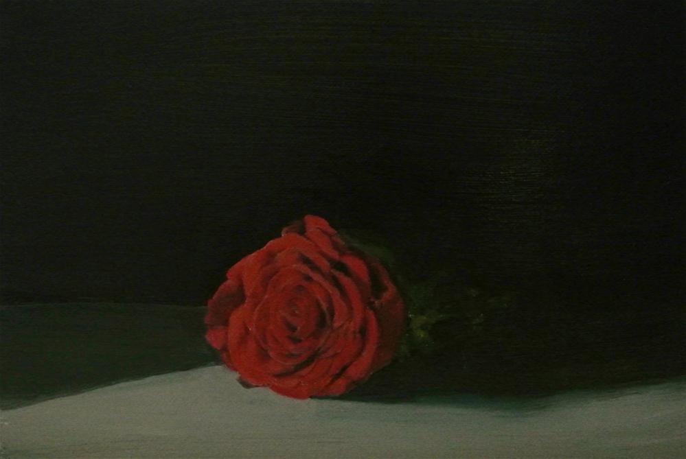 """Single Red Rose"" original fine art by James Coates"