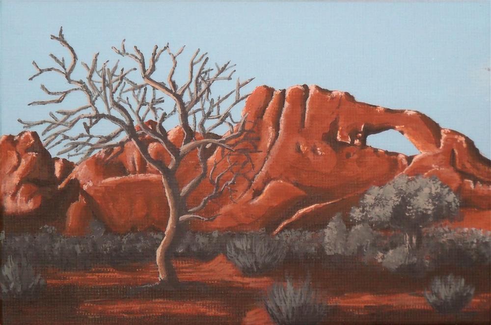 """""""Desert Arch"""" original fine art by Amy VanGaasbeck"""
