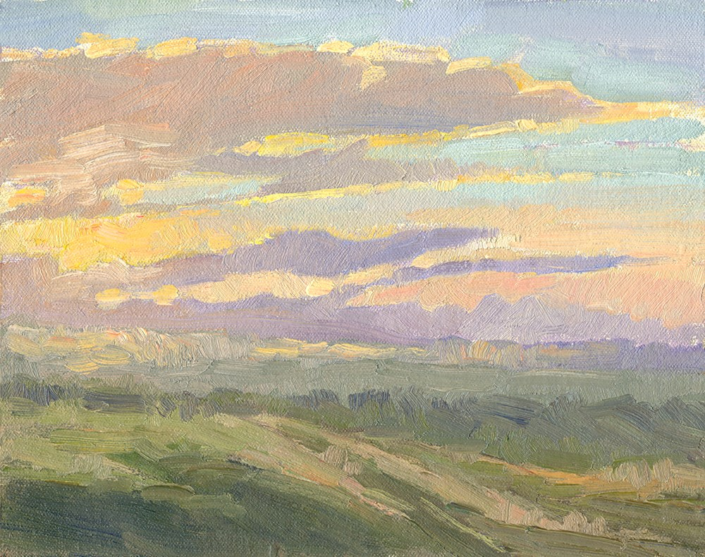 """Cloudy Dawn"" original fine art by Kath Reilly"