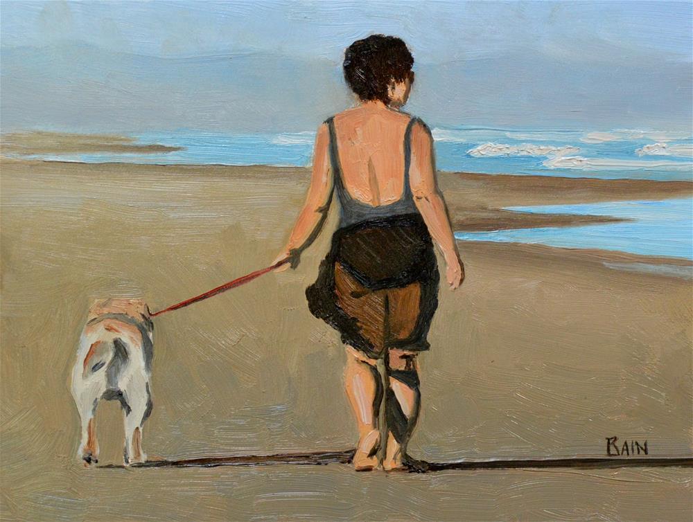 """""""An Early Walk"""" original fine art by Peter Bain"""