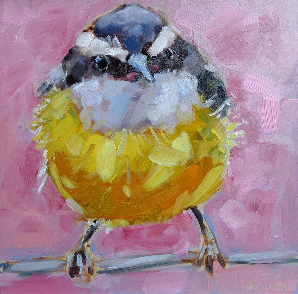 """""""BIRDIE NUM NUM"""" original fine art by Jean Delaney"""