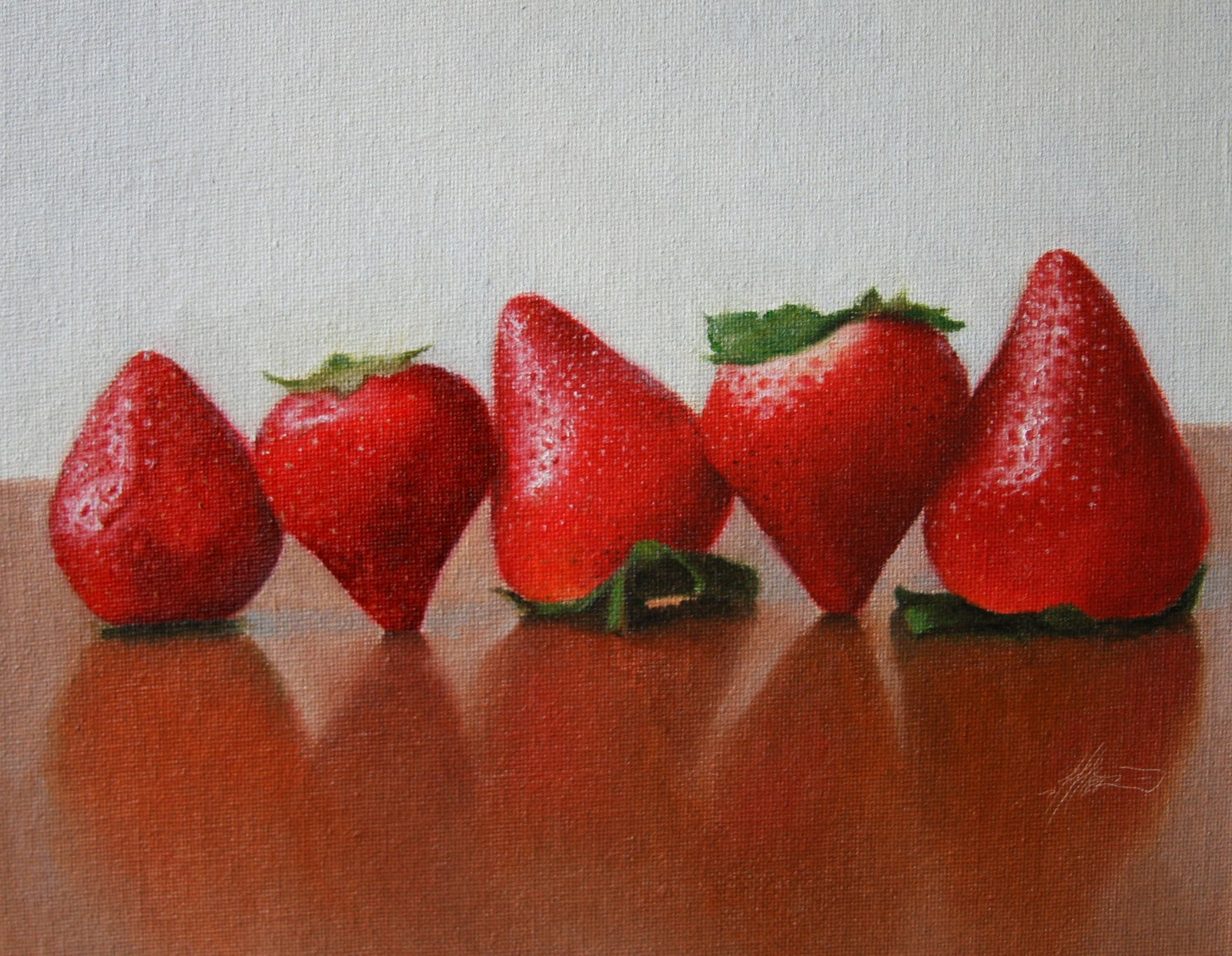"""Strawberries Marching"" original fine art by Jonathan Aller"