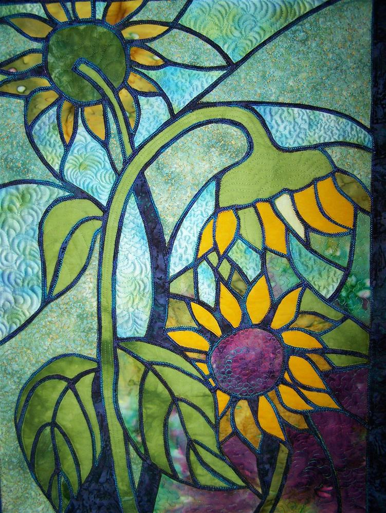 """Sunflowers"" original fine art by Joan Reive"