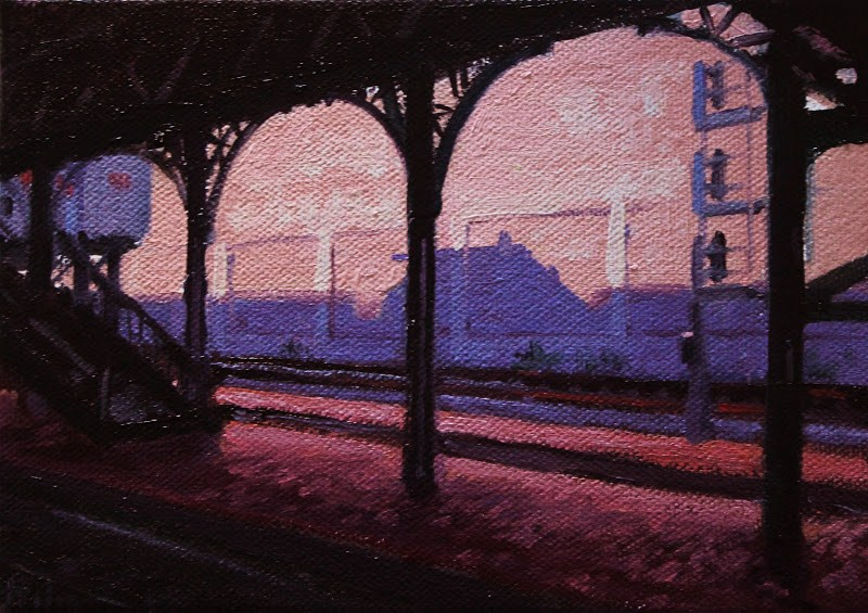"""Station Shadows"" original fine art by Ski Holm"