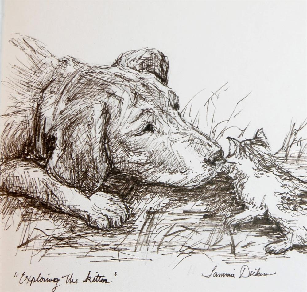 """Exploring the Kitten"" original fine art by Tammie Dickerson"