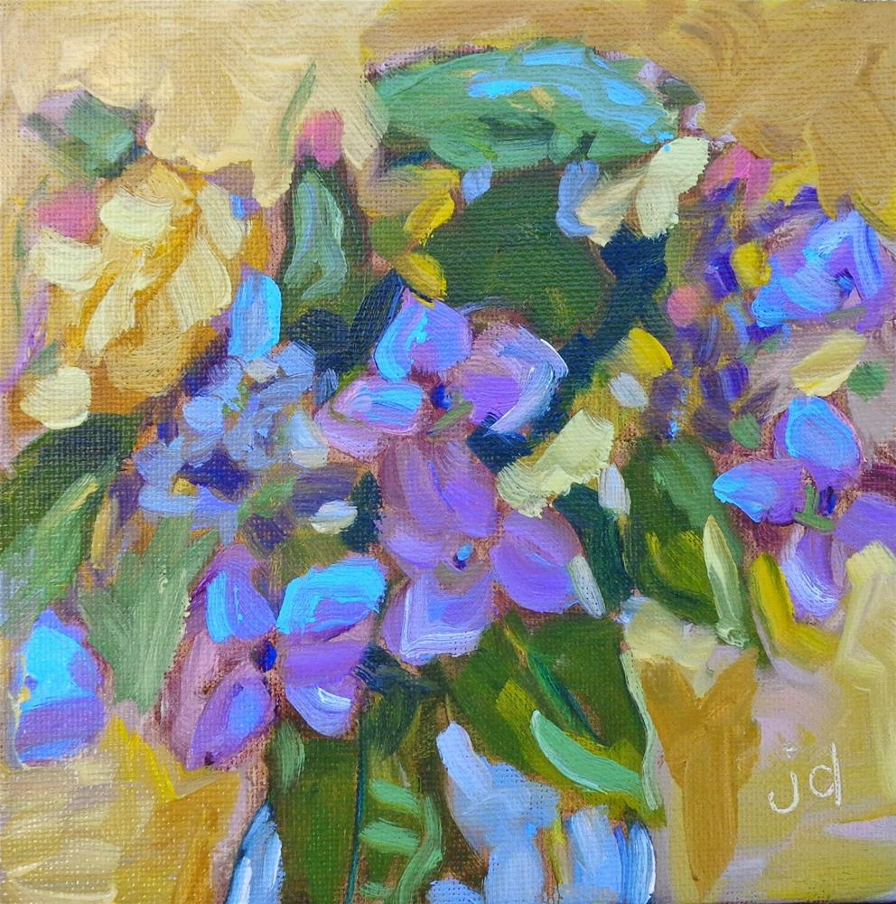 """Flowers from Cindy"" original fine art by Jean Delaney"