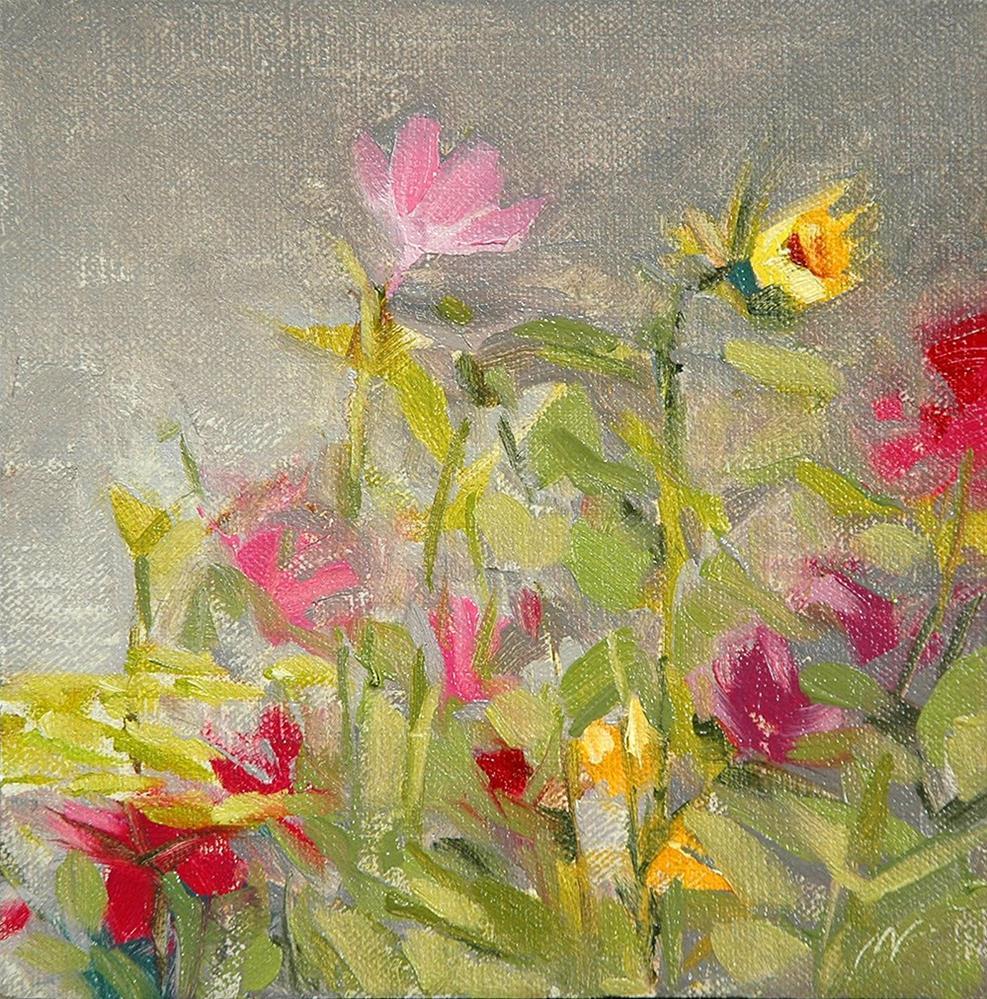"""""""My Flower Garden"""" original fine art by Miriam Hill"""