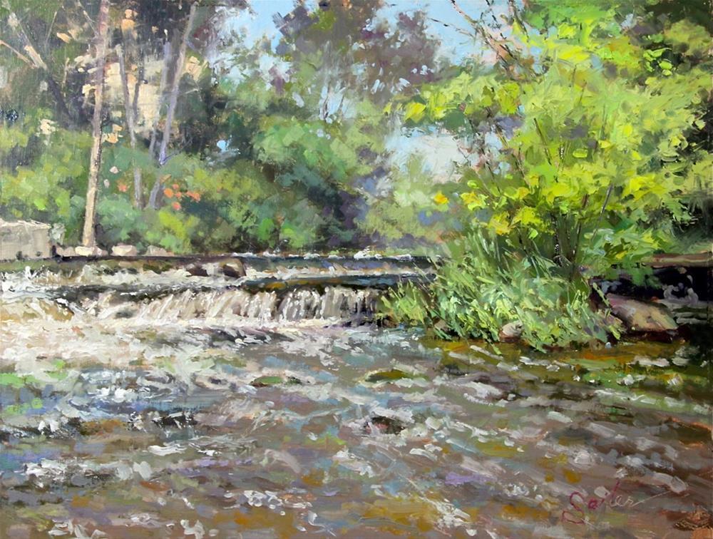 """Cedar Creek Demo"" original fine art by Larry Seiler"